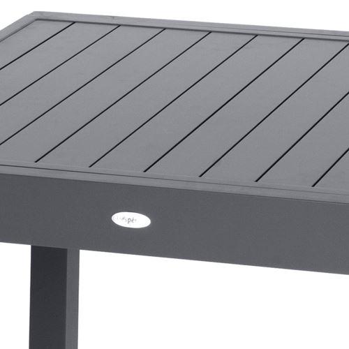 Table de jardin extensible 10 Personnes Piazza Lattes - L. 135/270 cm -  Gris anthracite