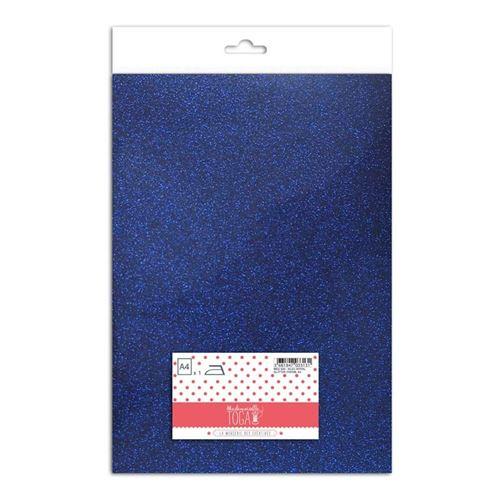 Flex thermocollant à paillettes - Bleu royal - 30 x 21 cm - Toga