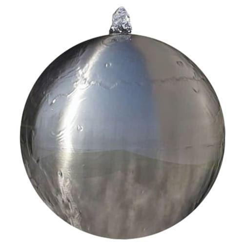 vidaXL Sphère de fontaine de jardin avec LED Acier inoxydable 20 cm