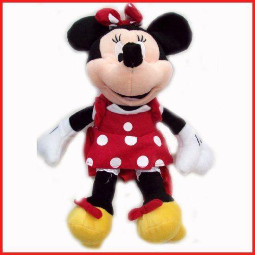 Disney en peluche classique Minnie Mouse robe à pois rouge 15 Toy Doll