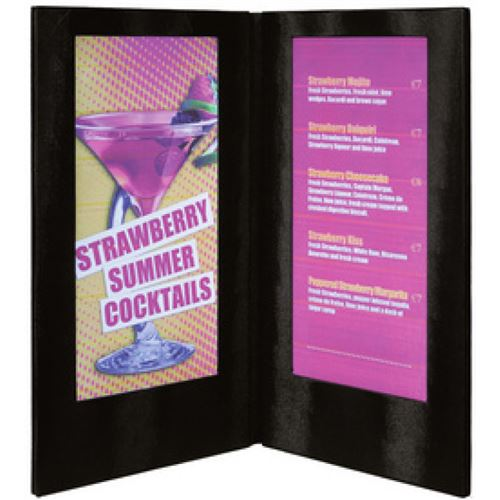 securit securit protège-menus led, (l)190 x (h)350 mm, cuivre noir