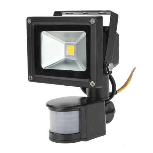 LED Lampe 10W PIR Motion Sensor IP65 Projecteur Floodlight Blanc Chaud