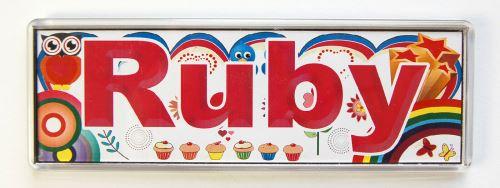 Plaque de porte magnétique - Rubis