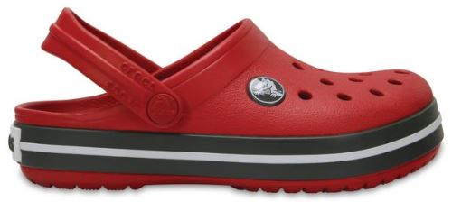 Crocs crocband enfants sabots <strong>chaussures</strong> sandales en rouge pepper graphite 204537 6ib