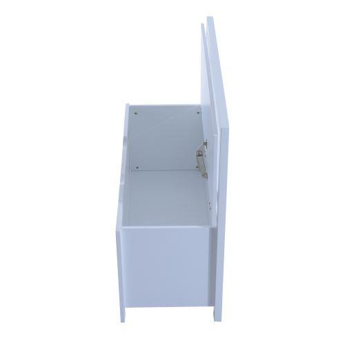 Banc Avec Dossier Et Coffre De Rangement 2 En 1 Dim 85l X 35l X 75h