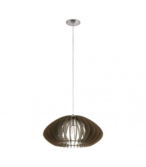 Eglo Cossano 2 Indoor E27 Brown, Wood – Ceiling Lighting (Bedroom, corridor, dining room, Kitchen, Living room, storage room, Indoor, Brown, Wood, iP20, Surfaced, nickel, Steel)