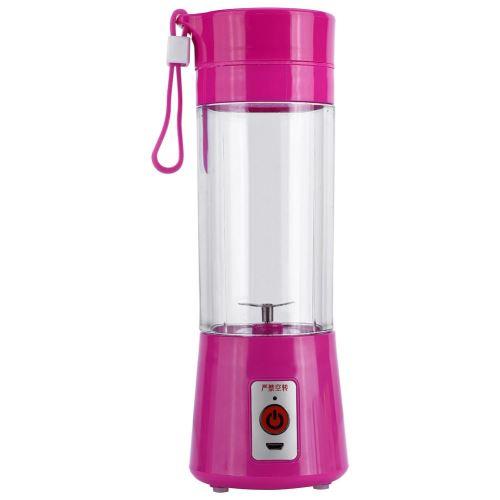 Mini Mixeur Presse-agrumes électriques d'extracteur de jus de fruit rechargeable portatif de 380ML USB Rose rouge