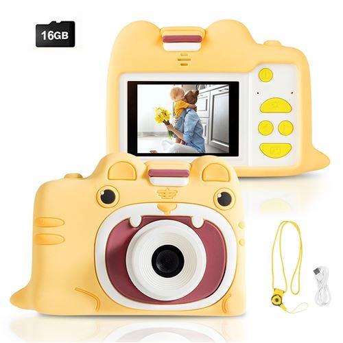 Appareil Photo Numérique GIANTEX pour Enfants 18MP 1080P, Ecran 2,0 Pouces,Carte TF 16 Go,Coque en Silicone pour les 3 ~ 10 ans