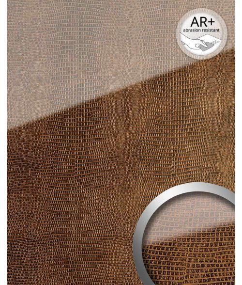 LEGUAN Panneau mural autoadhésif aspect verre WallFace 16981 Revêtement mural verre acrylique résistant à l'abrasion cuivre brun 2,60 m2