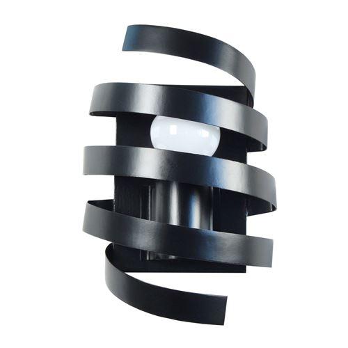 Applique murale spirale en métal hauteur 9.5 cm Barber Pole noir noir