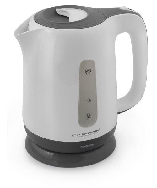 Esperanza ekk015e bouilloire électrique kalambo 1,7 l pc, blanc, gris
