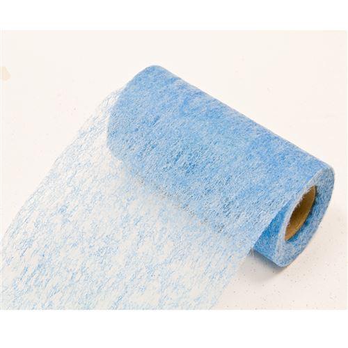 Lot de 10 Rouleaux en tissus non tissé coloris Turquoise - 10 cm x 10 m
