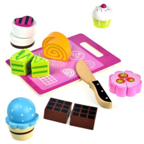 Tooky Toy jouet alimentaire pâtisserie junior bois 9 pièces