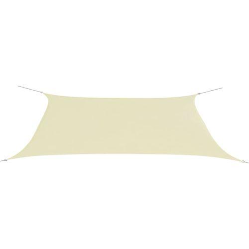 Parasol de jardin en tissu Oxford rectangulaire 4x6m Crème