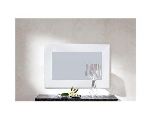 Miroir mural blanc ou noir laqué design SADIO-L 105 x H 70 cm- Blanc