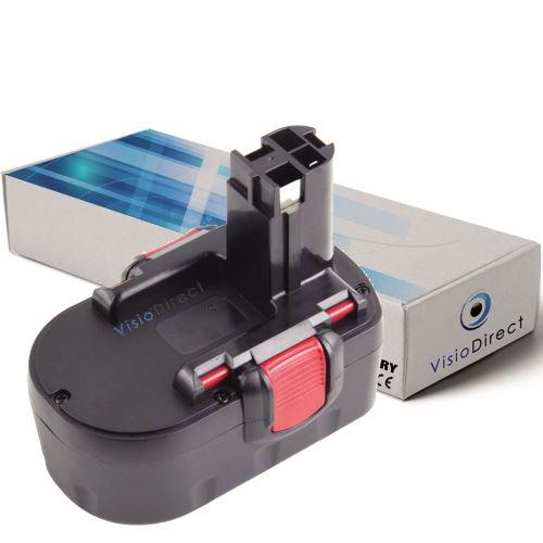 Batterie pour Bosch GHO 14.4 V GHO H GLI GSB 14.4 VE-2 3000mAh 14.4V -VISIODIRECT-