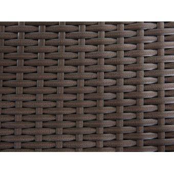Beliani - Table de jardin aluminium - plateau granit 180 cm et 6 ...