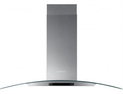 Samsung NK36M5070CS - Hotte - hotte décorative - largeur : 90 cm - profondeur : 45 cm - evacuation & recyclage - inox et verre