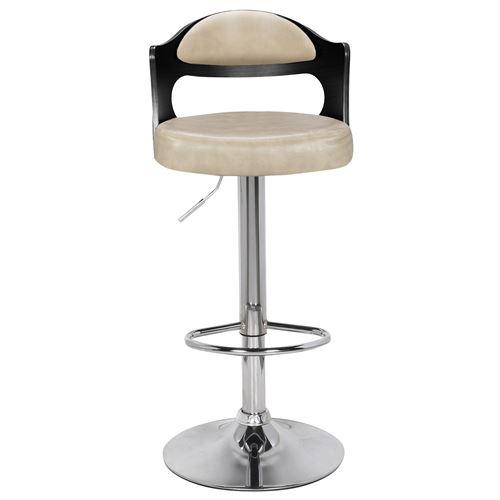 2 Lot chaises bar Ruben de Bois Cràme de NoirSimili 35q4jLAR