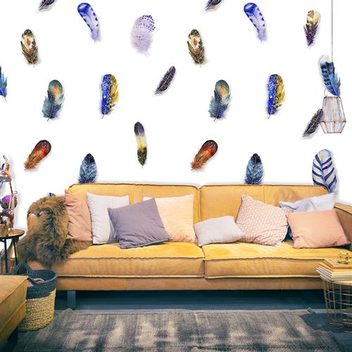 Papier peint - Plumes colorées - Décoration, image, art   Deko Panels   50x1000 cm  