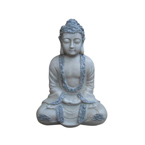 bouddha assis chip stone 38cm