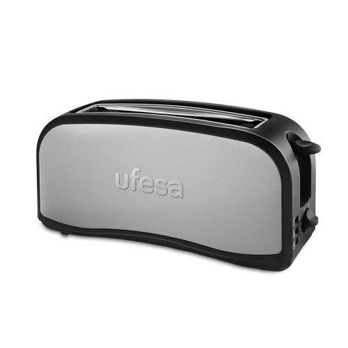 Ufesa TT7965 Grille-pain optique, argenté/noir