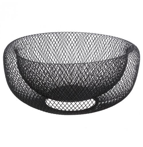Corbeille mesh noire - 27 x 13,5 cm - Métal - Noir