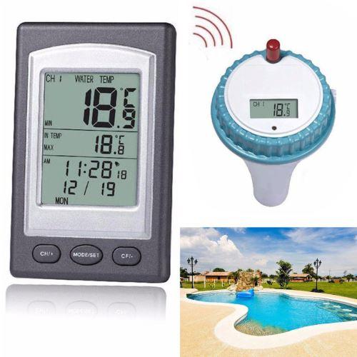 Télécommande sans fil Thermomètre flottant Piscine étanche bain à remous étang Spa_Kiliaadk162