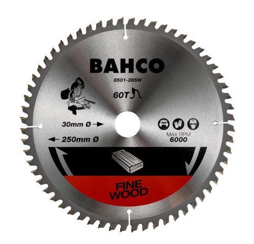 Bahco - Lame de scie circulaire Ø 250 x 30 mm 60 dents pour bois - 8501-28SW
