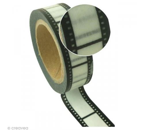 Ruban adhésif décoratif - Bande film -15 mm x 10 m
