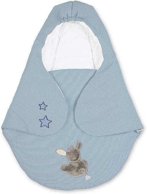 Sterntaler Nid d'Ange, Âne Emmi, Matelassé, Âge : Bébé dès la Naissance, 75 x 90 cm, Bleu Clair/Multicolore