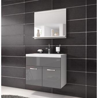 meuble de salle de bain de montral 02 armoire de rangement meuble lavabo vier meuble lavabo gris brilliant 60x35 cm installations salles de bain