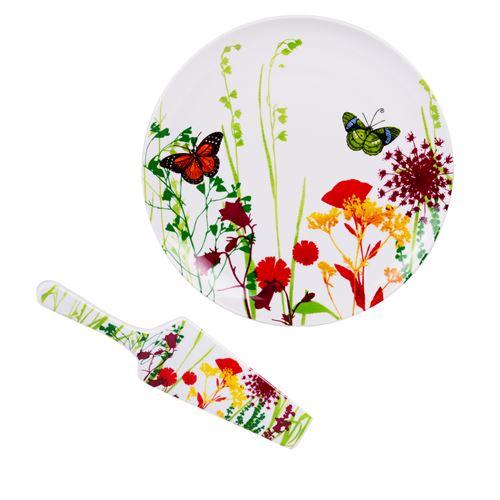 Plat à tarte 30 cm + pelle tutti fiori - Table Passion - Blanc - Porcelaine