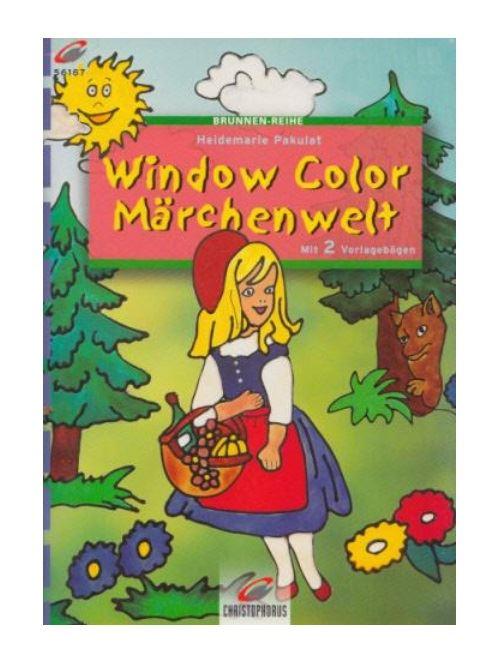 Livre motif window color la petite fille dans la foret - modele peinture fenetre (langue allemand)