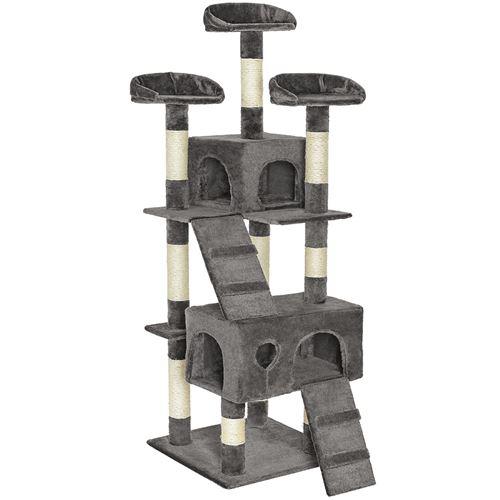 TecTake Arbre à chat MOGLI 170 cm - gris