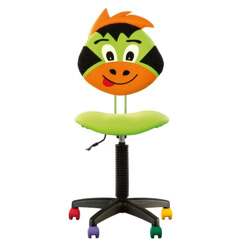 Fauteuil jouet dragon, chaise de bureau pour enfant sans accoudoirs en tissu vert
