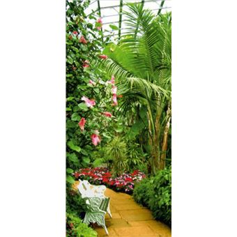 Fleurs Papier Peint Photo/Poster - Jardin D\'Hiver, 1 Partie (202x90 cm)