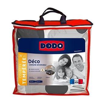 Dodo Couette Imprimee La Baule 220x240 Cm Blanc Et Anthracite