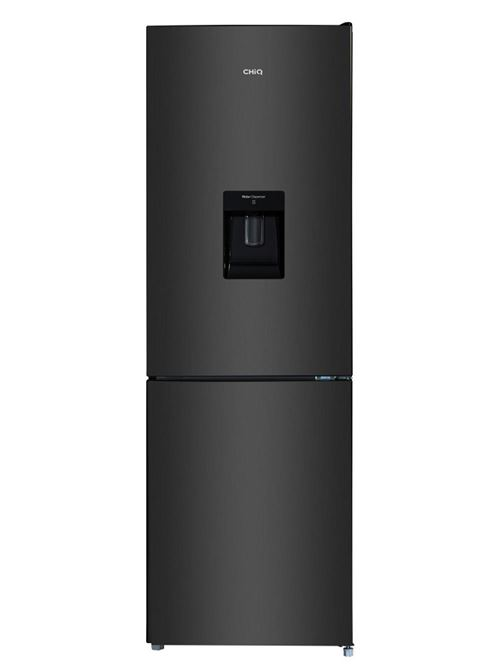 CHiQ Réfrigérateur congélateur bas FBM228NE4D 228L (158 + 70) Froid ventilé, No Frost, Acier inoxydable noir, portes réversibles, A+, 42 db