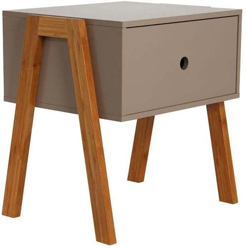 The Home Deco Factory - Table de chevet scandinave empilable Taupe