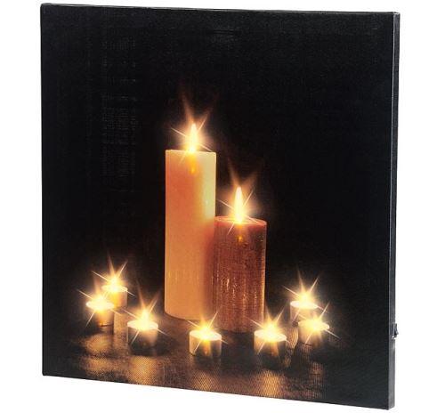 Tableau lumineux Bougies 40 x 40 cm