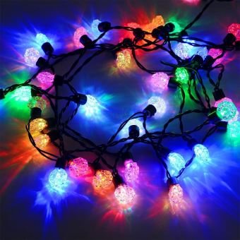 guirlande lumineuse 60 diamant lumi res led multicolores pour int rieur et ext rieur. Black Bedroom Furniture Sets. Home Design Ideas