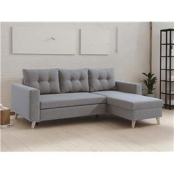 420 sur nordic canap scandinave d angle r versible convertible gris clair achat prix. Black Bedroom Furniture Sets. Home Design Ideas