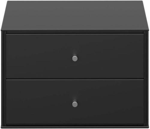 Table de nuit / table de chevet coloris noir - 28 x 41.6 x 35 cm -PEGANE-
