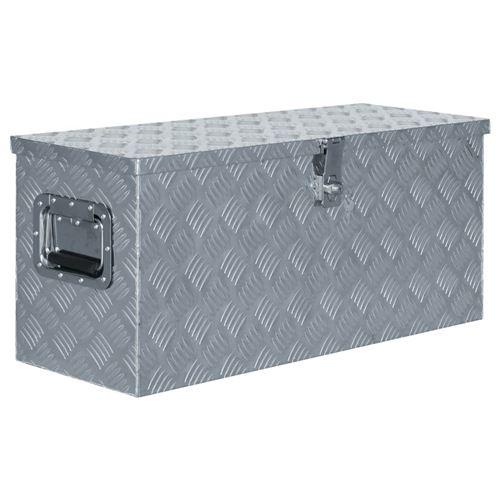 Boîte en aluminium 80 x 30 x 35 cm Argenté