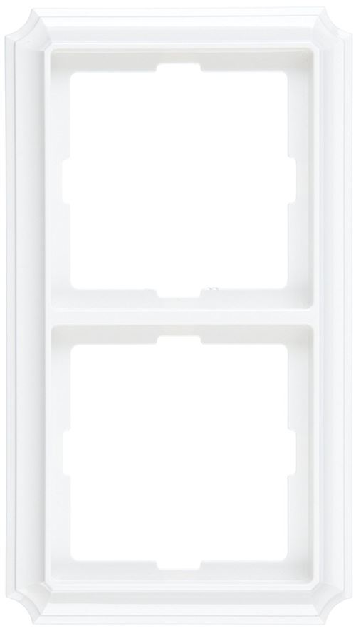 Merten 483219 Plaque ANTIK double Blanc polaire