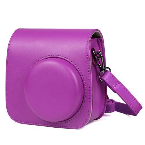 Étui en cuir PU antichoc pour Fujifilm Instax Mini 8 / 8+ / 9 - Violet