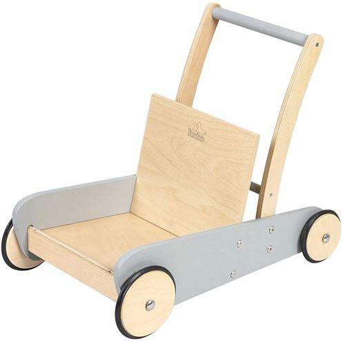 Pinolino Chariot de marche gris Mats