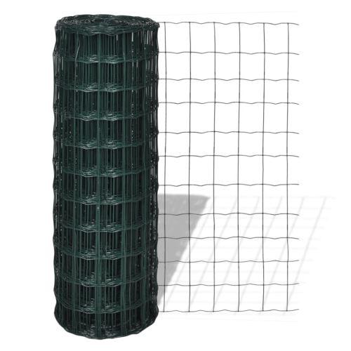 Tidyard Grillage avec Revêtement en PVC 25 x 1,0 m avec Mailles 76 x 63 mm