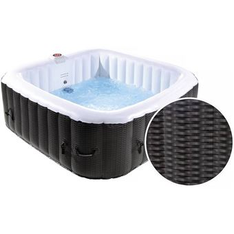 Spa Gonflable Nice En Pvc 6 Places Marron Creme